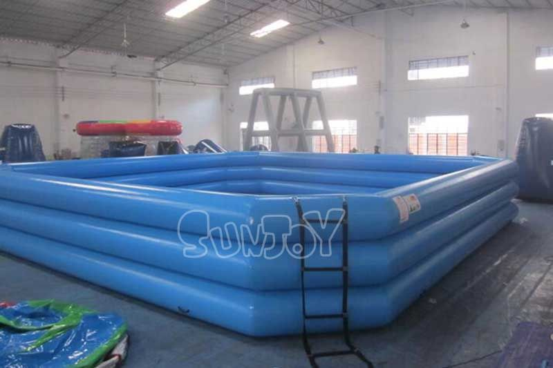 large molded plastic pool